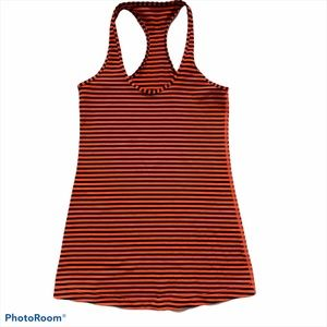Lululemon Racerback Tank Orange and Navy Small